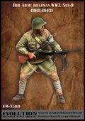 エボリューション[EM-35114]1/35 WWII戦うソビエト兵士(9)援護 1941〜43
