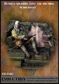 エボリューション[EM-35117]1/35 現用ロシア連邦軍 護送される負傷兵と斃れた戦友 チェチェン1995〜96