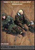 エボリューション[EM-35130]1/35 WWIIドイツ武装SS 休息する射撃手と助手 1944〜45