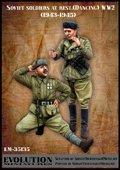 エボリューション[EM-35135]1/35 WWII休息中のソビエト兵士(5)コサックダンス 1944〜45