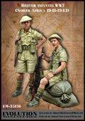エボリューション[EM-35136]1/35 WWII戦車跨乗する二人のイギリス歩兵 北アフリカ1941〜43