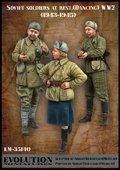エボリューション[EM-35140]1/35 WWII休息中のソビエト兵士(6)手拍子を送る1943〜45