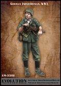 エボリューション[EM-35141]1/35 WWIIドイツ陸軍歩兵 襟を開ける下士官 大戦初期