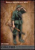 エボリューション[EM-35142]1/35 WWIIドイツ陸軍歩兵 汗を拭う 大戦初期