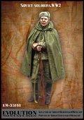 エボリューション[EM-35148]1/35 WWIIソビエト兵士 ポンチョ姿の兵士 1943〜45