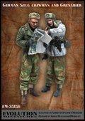 エボリューション[EM-35158]1/35 WWIIドイツ武装SS 戦車兵長と打合せする擲弾兵