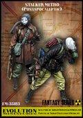 エボリューション[EM-35183]1/35 ストーカー(5)地下鉄を徘徊するガスマスク姿の二人組み(FPSゲームキャラクター)