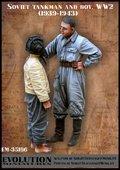 エボリューション[EM-35186]1/35 WWIIロシア赤軍戦車兵 子供に戦車帽を貸す戦車兵 1939〜43