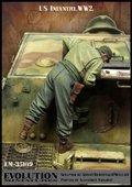 エボリューション[EM-35189]1/35 WWIIアメリカ陸軍兵士 鹵獲戦車の内部を覗くGI