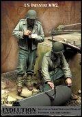 エボリューション[EM-35191]1/35 WWIIアメリカ陸軍兵士 大口径砲弾を検分するGI