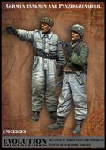 エボリューション[EM-35193]1/35 WWIIドイツ武装SS 戦車搭乗員と打合せする装甲擲弾兵
