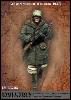 画像2: エボリューション[EM-35205]1/35 WWII  ドイツ陸軍兵士 鹵獲武器を愛用する歩兵 ハリコフ冬1943