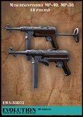 エボリューション[EMA-35025]1/35 WWIIドイツ MP40/MP38(各型ストック位置2種類入)