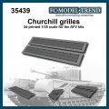 FC★MODEL[FC35439]Rejillas Churchill, escala 1/35