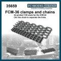 FC★MODEL[FC35659]FCM-36 anclajes y cadenas, escala 1/35