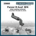 FC★MODEL[FC35660]Panzer III Ausf. M/N escape de vadeo profundo. Escala 1/35
