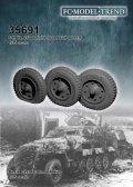 FC★MODEL[FC35691]Sd.Kfz 251 ruedas con peso + rueda pinchada, escala 1/35