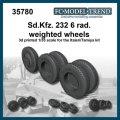 FC★MODEL[FC35780] Sd.kfz. 232 6 rad, ruedas con peso, escala 1/35.