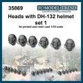 FC★MODEL[FC35869] Cabezas con casco DH.132 set 1, escala 1/35.