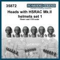 FC★MODEL[FC35872] Cabezas con casco HSRAC MkIII, set 1. Escala 1/35.