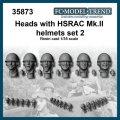 FC★MODEL[FC35873] Cabezas con casco HSRAC MK.III, set 2. Escala 1/35