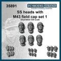 FC★MODEL[FC35891] Cabezas SS con gorra M-43, set 1. Escala 1/35.