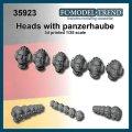 FC★MODEL[FC35923] Cabezas con casco panzerhaube, escala 1/35