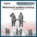 FC★MODEL[FC72414] Soldados de la Wehrmacht rezando. Escala 1/72