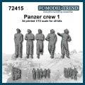 FC★MODEL[FC72415] tripulaci?n Panzer, set 1, escala 1/72