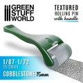 グリーンスタッフワールド[GSW-10482]ハンドル付ローリングピン 丸石の舗石15mm[1/87〜1/72]