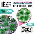 グリーンスタッフワールド[GSWD-10677]SFシリーズ草むら 長さ6mmワイルドファイアグリーン(粘着剤付)