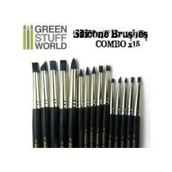 画像2: グリーンスタッフワールド[GSWD-111]ブラックシリコンシェイパーブラシ サイズ ♯6 ハードタイプ