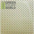 グリーンスタッフワールド[GSWD-1101]ABS Plasticard - Thread DOUBLE DIAMOND Textured Sheet - A4