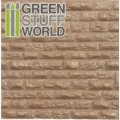 グリーンスタッフワールド[GSWD-1109]ABS Plasticard - ROUGH ROCK WALL Textured Sheet - A4
