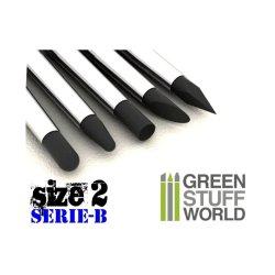 画像1: グリーンスタッフワールド[GSWD-112]ブラックシリコンシェイパーブラシ セリエB サイズ ♯2 ハードタイプ