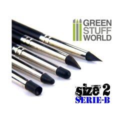 画像3: グリーンスタッフワールド[GSWD-112]ブラックシリコンシェイパーブラシ セリエB サイズ ♯2 ハードタイプ