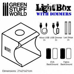 画像2: グリーンスタッフワールド[GSWD-1684]LED付ボックス撮影ブース