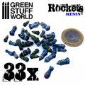 グリーンスタッフワールド[GSWD-1693]ロケット&ミサイルセット(レジン製ビッツパーツ)