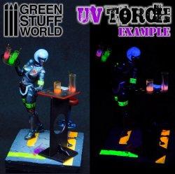 画像3: グリーンスタッフワールド[GSWD-1909]工具 LED式UV投射ライト