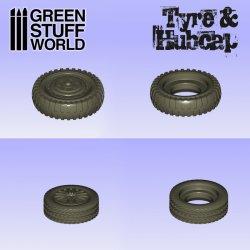 画像3: グリーンスタッフワールド[GSWD-2042]シリコン型 タイヤ&ハブキャップ