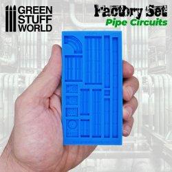 画像2: グリーンスタッフワールド[GSWD-2105]シリコン型 集合パイプ&鉄骨柱セット