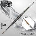 グリーンスタッフワールド[GSWD-2355]シルバーシリーズ コリンスキー毛 丸筆 サイズ 2