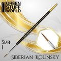 グリーンスタッフワールド[GSWD-2358]ゴールドシリーズ シベリアコリンスキー毛 丸筆 サイズ 1