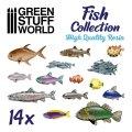 グリーンスタッフワールド[GSWD-3010]ジオラマアクセサリー 魚類セット