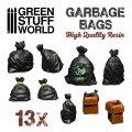 グリーンスタッフワールド[GSWD-3059]ジオラマアクセサリー ゴミ袋セット