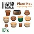 グリーンスタッフワールド[GSWD-3094]ジオラマアクセサリー 植木鉢セット