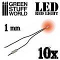 グリーンスタッフワールド[GSWD-74]Red LED Lights - 1mm