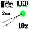 グリーンスタッフワールド[GSWD-75]Green LED Lights - 2mm