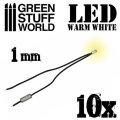 グリーンスタッフワールド[GSWD-80(1382)]Warm White LED Lights - 1mm