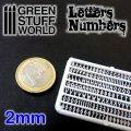 グリーンスタッフワールド[GSWD-1435]ジオラマ素材 プラ製文字/数字セット 2mmサイズ